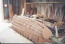 Herreshoff motor launch under construction…
