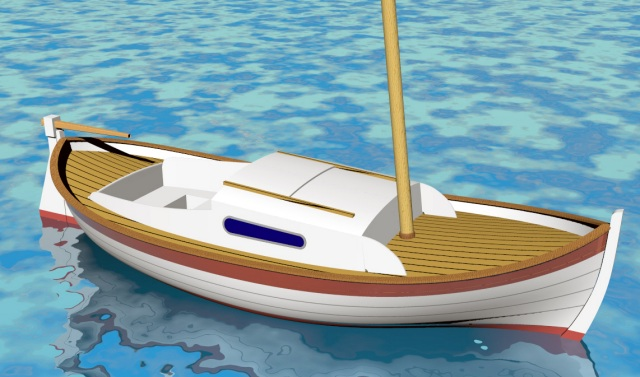 The construction of the next boat will start this winter; This version will have a cabin and staysail rig.