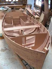 The sailing dinghy Ebihen, designed by François Vivier and currently being built by Marc Vuilliomenet, was launched on the second of July 2005… Her LOA is 4m50 and she is built in mahogany strip planking on frames… Designed for family recreation in coastal waters, she carries five…