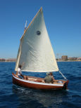 The sailing dinghy Ebihen, designed by François Vivier and built by Marc Vuilliomenet, was launched on the second of July 2005… Her LOA is 4m50 and she is built in mahogany strip planking on frames… Designed for family recreation in coastal waters, she carries five…