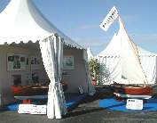 Marc Vuilliomenet's stand at the Cannes Boat Show…