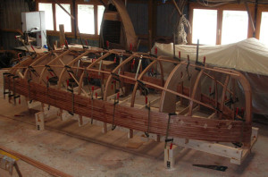 The sailing dinghy Ebihen, being built…