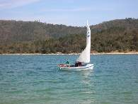 """Zen"" an awesome sailing dinghy, rowable when the wind drops."