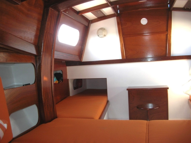 Classic 6.50 Cabin version, interior view aft, light and spacious…